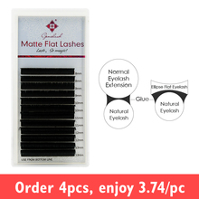 Genie Matte Flat lashes for eyelash extensions ellipse roots Softer Tips less pressure on the eyes lash extenstions