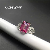 KJJEAXCMY natural Topaz Ring S925 rose gold silver wholesale