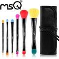 MSQ Marca 6 pcs Pincel de Maquiagem Profissional Set Top Qualidade Cabelo Sintético Macio Compõem Escovas Com Saco Para A Beleza