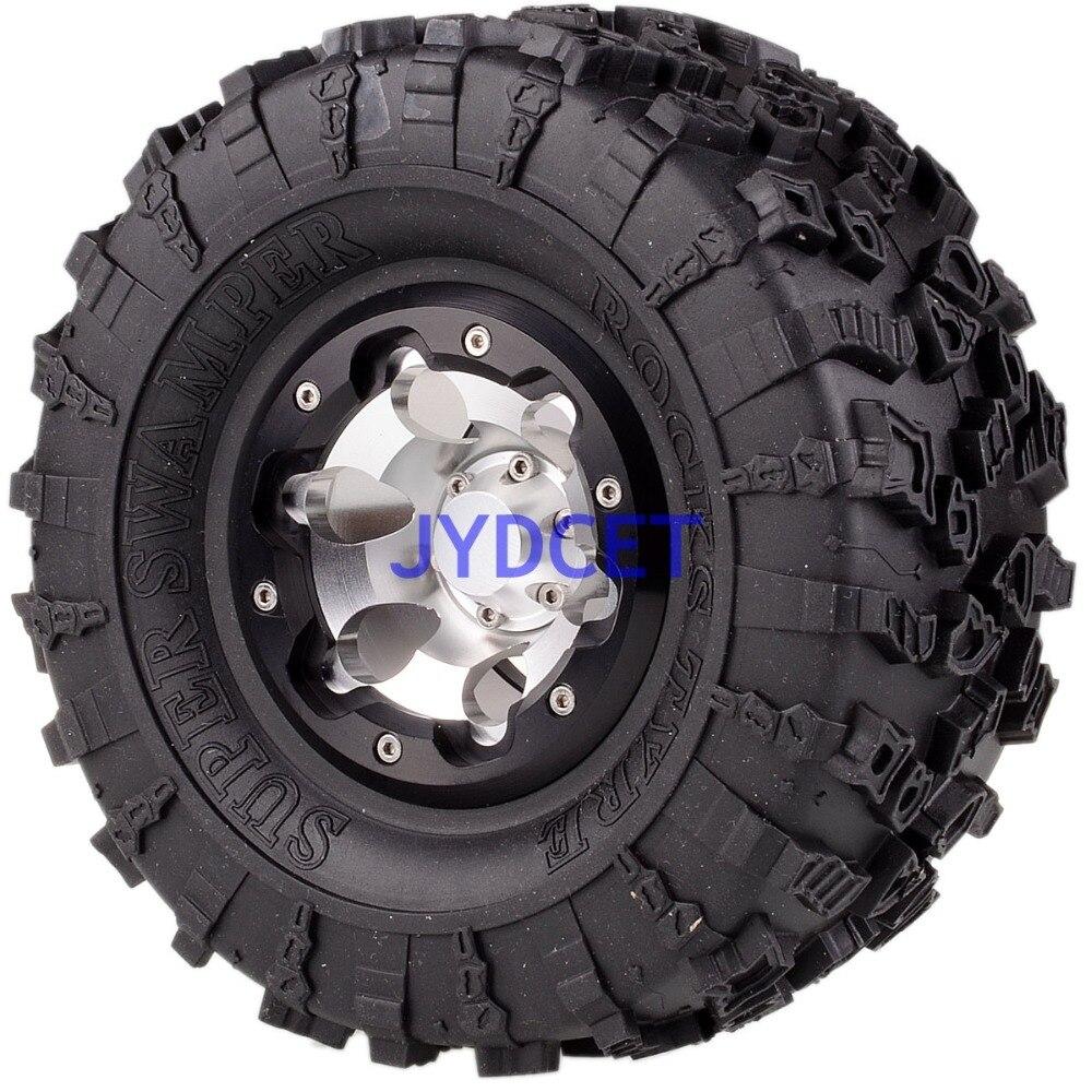 2023 3022 aluminio 2,2 Beadlock Rueda y 132mm neumáticos para RC 1/10 modelo Crawler Axial Traxxas - 6