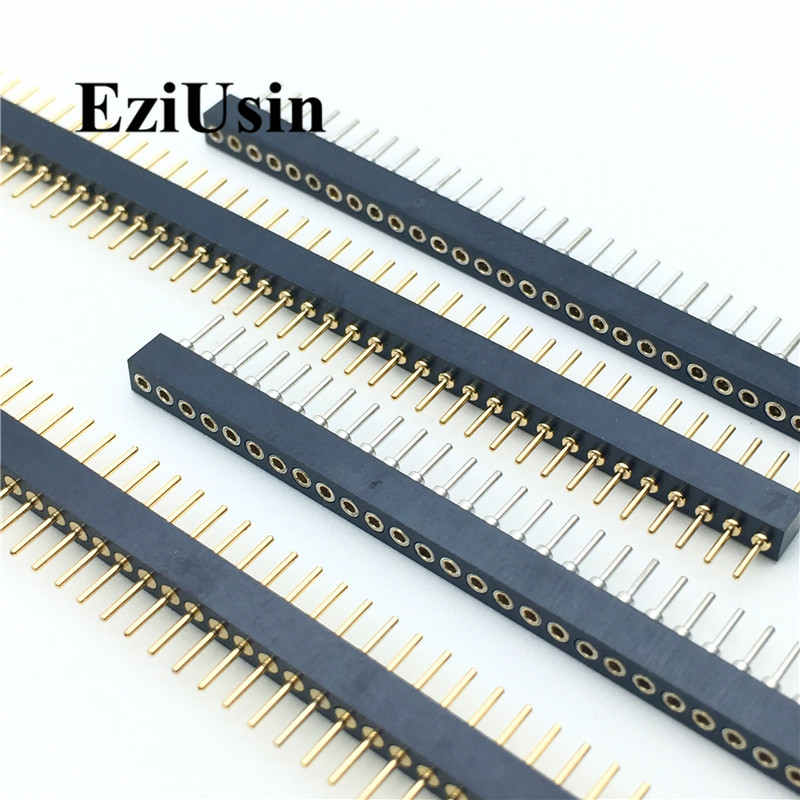 1.778mm Pitch 1.778 Single Row Male Female Round Pin Header 1*40P Breakaway PCB Board Colour Connector Strip Pinheader 1x40