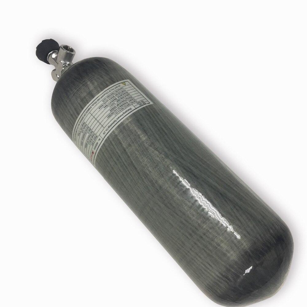 Acecare nuevo cilindro de fibra de carbono de 9L 4500Psi 300bar con válvula de calibre Envío Directo