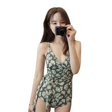 Купить с кэшбэком 2018 V-Neck One Piece Swimwear Women Sexy Swimsuit Bandage Lace Bathing Suit Female Push Up Bodysuits Beach Suit