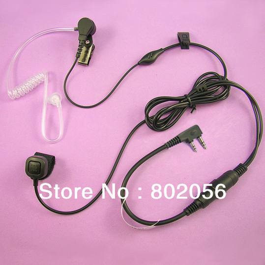Finger PTT Air tube headset earphone for Kenwood Baofeng uv5r Wouxun RELM Linton two way radio