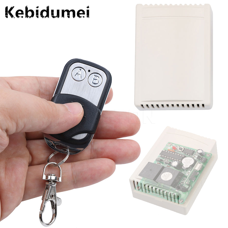 Kebidumei Best Price universal Remote Control 433MHz DC12V 2CH Channel Wireless RF Remote Control Switch 2 Transmitter+Receiver high quality 1 2 3 channel wireless remote control switch digital remote control switch receiver transmitter