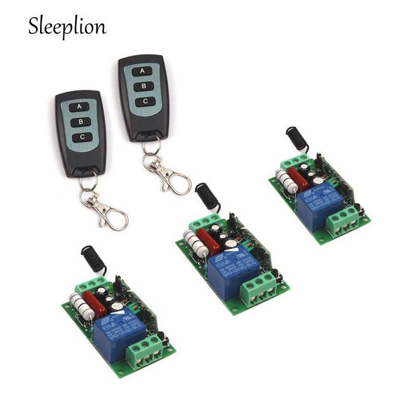 Sleeplion US CA AC 110V 10A1CH Channel 315 433MHz Wireless RF Remote 2 3 key Switch