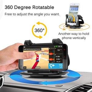Image 2 - Soporte para tablero de automóvil para teléfono, soporte de Gel adhesivo antideslizante giratorio 360, soporte de montaje lavable para automóvil para iPhone XS Max Samsung S10 Note9 GPS