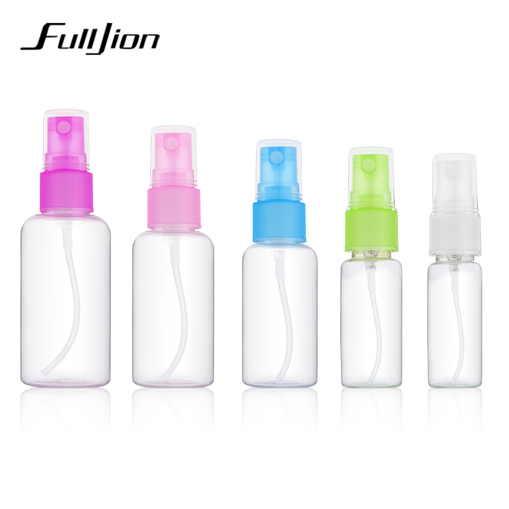 Fulljion 1pcs Plastic Transparent 20ml/50ml Small Empty Spray Bottles For Makeup Skin Care Refillable Bottle Tools Random Color funny blades style small plastic spinning tops random color 4 pcs