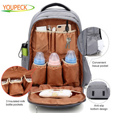 Diaper Bag for Baby Multi Function Water Repellent Diaper Bag Backpack for Dad Mom with Cushioned