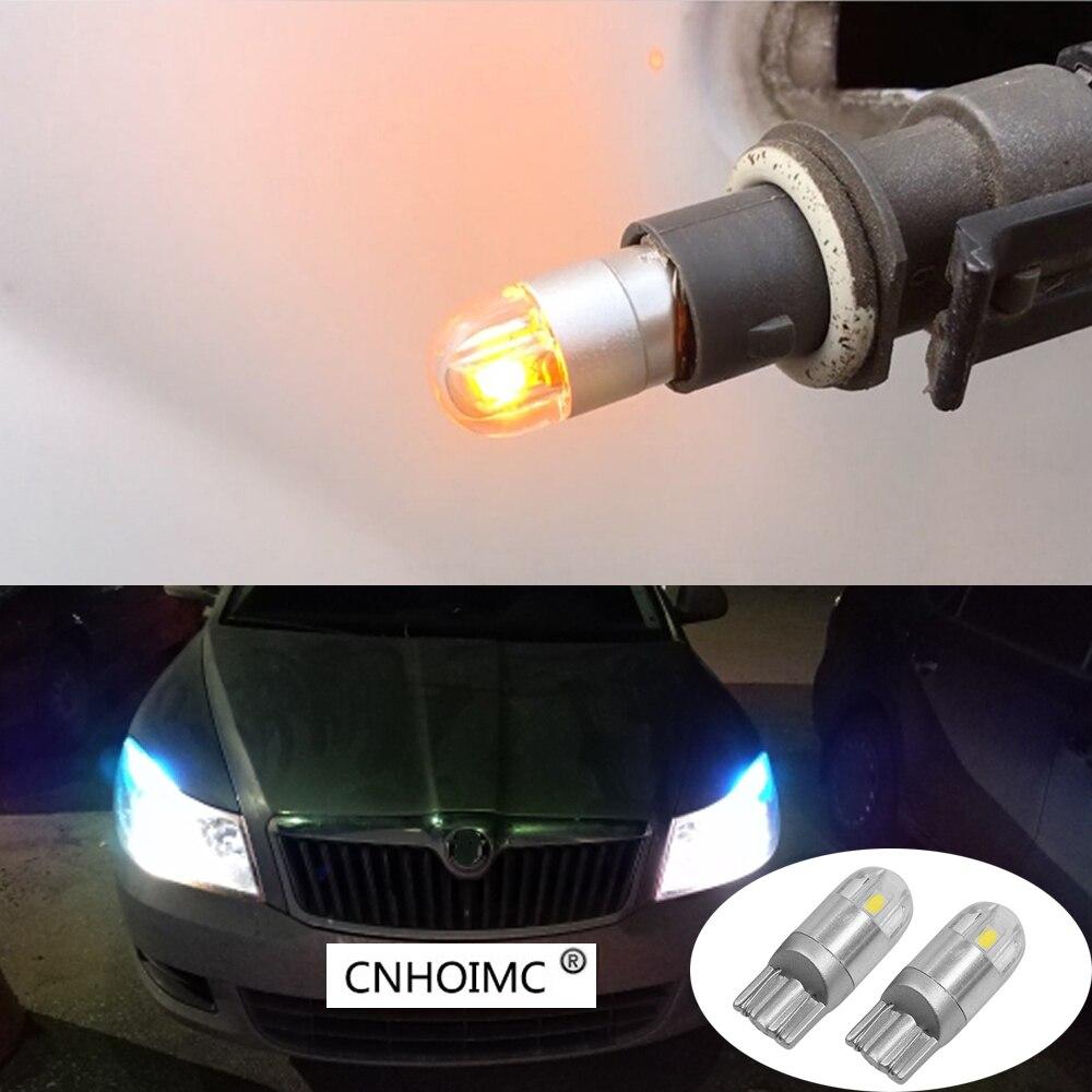 2 шт. T10 3030smd 168 194 Светодиодная лампа автомобиля для <font><b>Skoda</b></font> Superb <font><b>Octavia</b></font> A7 5 2 Fabia Rapid Yeti Felicia автомобили белый W5W габаритный фонарь
