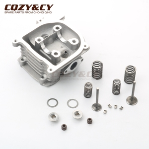 Scooter 80cc NON-EGR 47mm Big Bore cylinder head kit & 20*23mm valve kit for GY6 50cc 80cc 139QMB 139QMA 4-stroke(China)