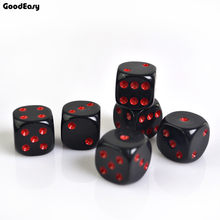 Casino Dice Set 16mm Acrylic Dices Red/Black Drinking Digital Dice Board Gambling 6 Sides Poker Party Game Fatory Price(China)