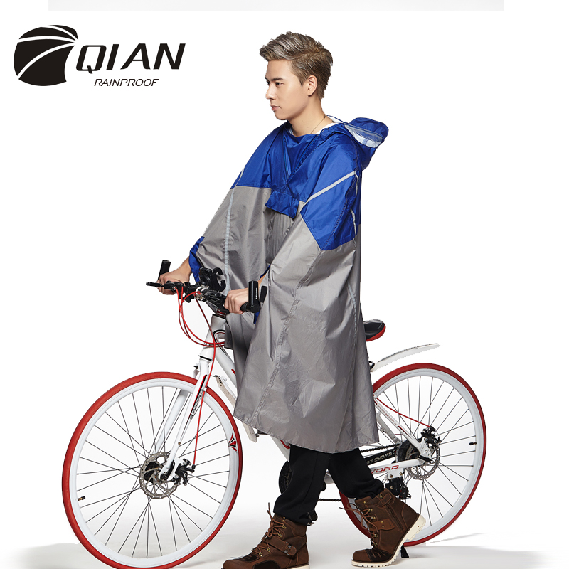 Qian Rainproof Professional Outdoor Fashionable Rain Poncho
