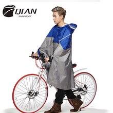 Цянь непромокаемые профессиональный открытый модный дождь пончо рюкзак Светоотражающие Клейкие ленты Дизайн восхождение Пеший Туризм Путешествия дождевик
