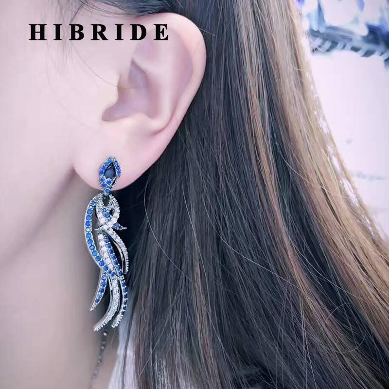 HIBRIDE Bohemia Style <font><b>Phoenix</b></font> Shape New Earrings For Women Black Gun Plated Women Outdoory Earring Brincos Bijoux Gifts E-512