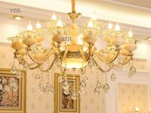 hot deal buy chandelier living room luxury atmosphere zinc alloy jade chandelier lighting bedroom led restaurant crystal lighting chandelier