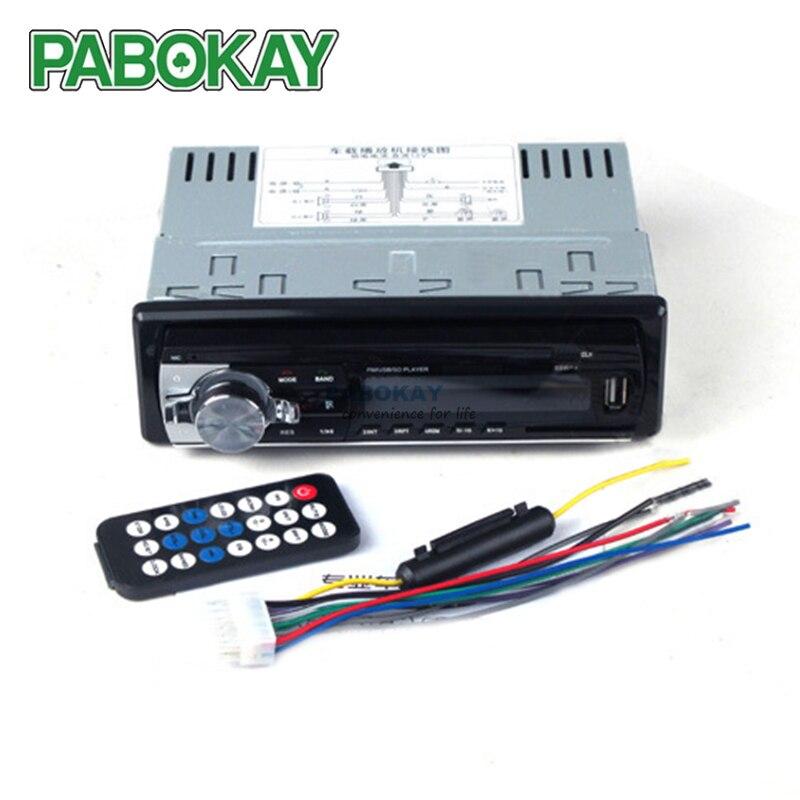 Bluetooth V2.0 JSD-520 estéreo Autoradio Car Radio 12 V en el tablero 1 Din FM RECEPTOR de entrada auxiliar SD USB MP3 MMC WMA de Audio JSD520