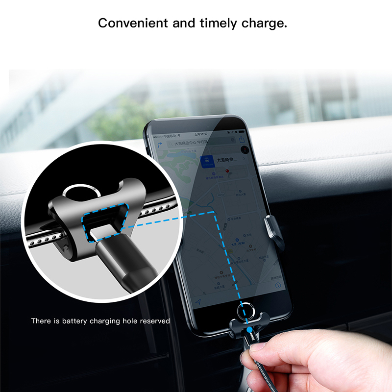 Image 4 - Baseus Gravity Car Holder For iPhone Samsung Cell Mobile Phone Holder 360 Degree GPS Air Vent Mount Clip Car Phone Holder Stand-in Phone Holders & Stands from Cellphones & Telecommunications on