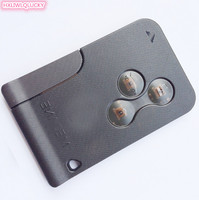 Auto Key With Transparent Button Of Car Cover Renault Megane Card Key With PCF7947 CHIP Free
