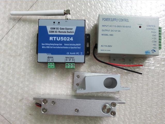 Inteligente interruptor de control remoto GSM con Puerta de la puerta de Control de Acceso sistema de control de acceso de la Cerradura Cerrojo Eléctrico