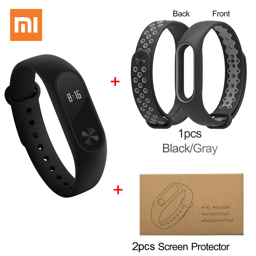 Xiaomi Mi Band 2 Miband 2 Smart Bracelet Touchpad OLED Screen Wristband with Sleep/Heart Rate Monitor Fitness Tracker Band