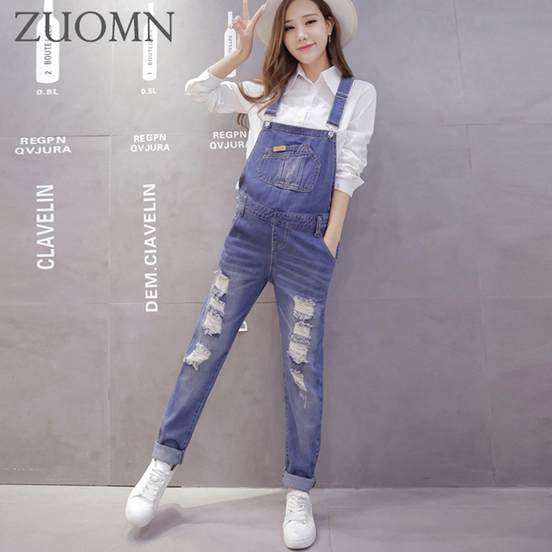 Maternity Holes Jeans Pregnant Women Denim Overalls Jumpsuit Pregnancy Pants Maternity Clothes Pregnant Women Trousers YL568