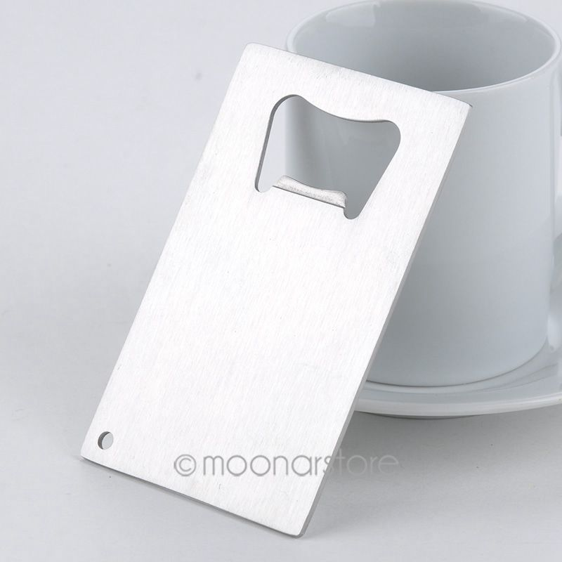 1 Piece Wallet Size Stainless Steel Credit Card Bottle Opener ...