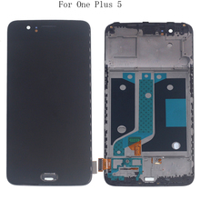 "5.5"" AMOLED Display For Oneplus 5 A5000 OLED LCD display+frame touch screen digitizer replacement For Oneplus 5 A5000 Repair kit"