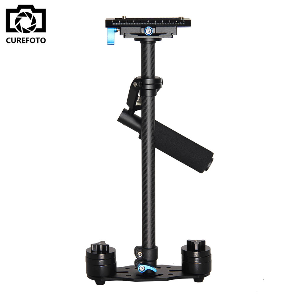 S60T Steadycam Scalable Carbon Fiber Handheld Stabilizer Steadicam for Canon Nikon Sony DSLR Camera Compact Camcorder handheld camcorder stabilizer s60t carbon fiber steady stabilizer for canon professional camera stable device