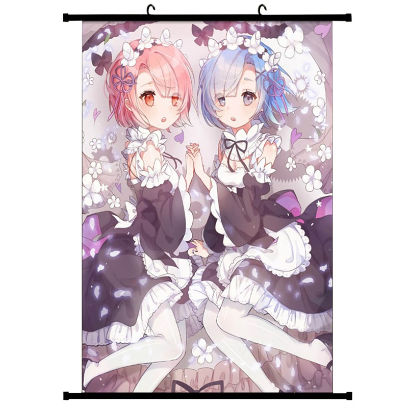 1pc Anime Re: Zero Kara Hajimeru Isekai Seikatsu Scroll Painting Wall Picture Poster Home Decoration