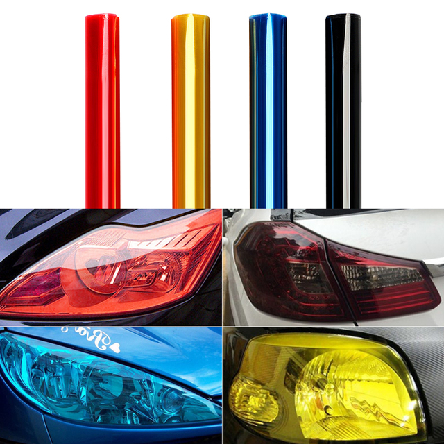 30 120cm Car Sticker For Cars Auto Light Headlight Taillight Protect