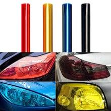 30*120 см автомобиля Наклейка для автомобилей авто свет фар задний фонарь защиты плёнки лампа Винил Дым клейкий лист крышка стайлинга автомобилей