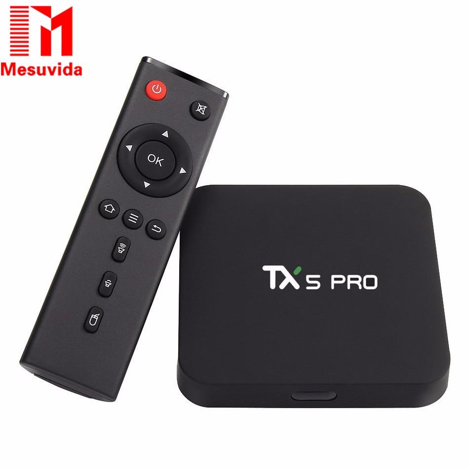 Mesuvida Best TX5 Pro Amlogic S905X Android 6.0 TV Box Quad Core 2GB RAM 16GB 4K HDMI H.265  Smart TV Set Top Box Media Player mesuvida 2gb 16gb nexbox a95x smart tv box android 6 0 amlogic s905x quad core 64bit 4k x 2k h 265 many movies set top box