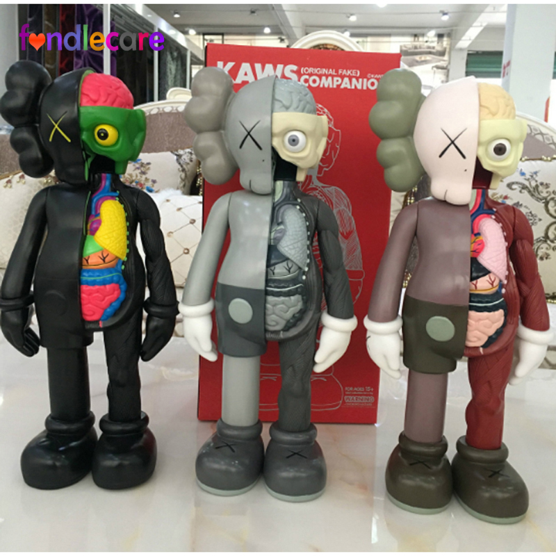 1107c7ba676 US $29.29 30% OFF|Fondlecare 37CM 16inch KAWS Dissected Companion action  figures toys for children original fake toys-in Action & Toy Figures from  ...