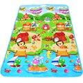 Nuevo Alfombra de gateo para niños 180*120cm estampada por ambos lados, letras y frutas y granja, alfombra de juegos para niños resistente al agua