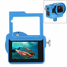 цена на High quality Action Camera Accessories Aluminum Alloy Protective cage Frame case with UV 52mm Filter+lens cover For Gopro Hero 5