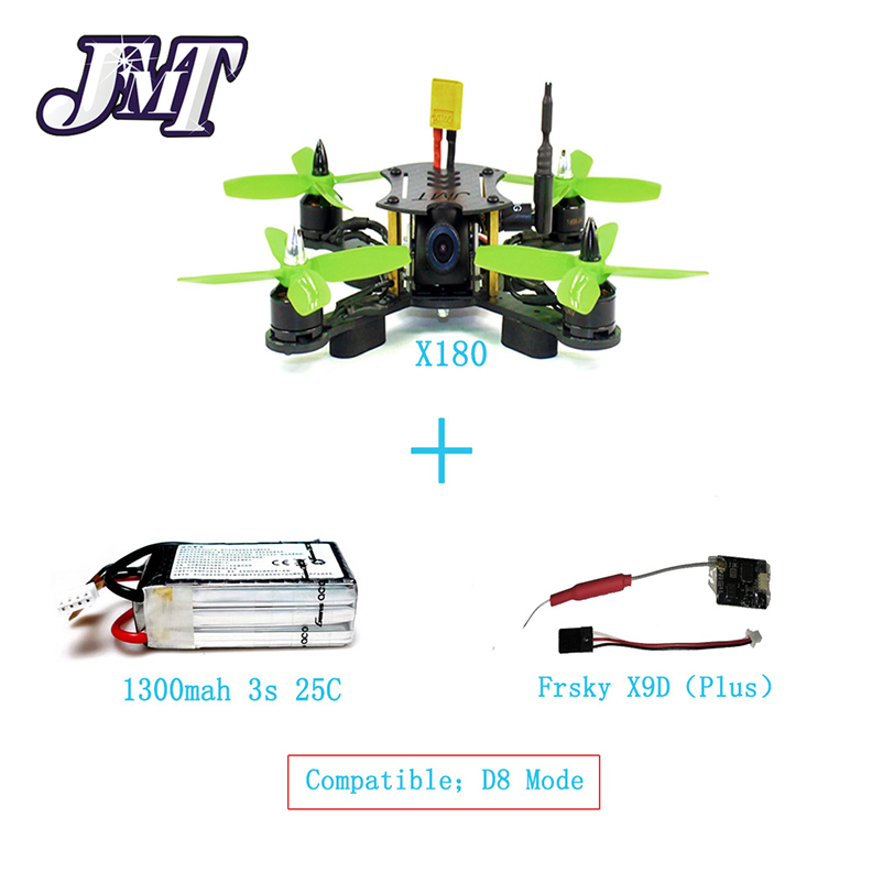 JMT X180 DIY BNF Frame Kit with OSD Frysky D8/TUTABA/R6DSM Receiver RX Battery Superlight Mini RC Racing FPV Drone Quadcopter jmt x180 diy quadcopter pnp assembled racer kit 180mm super light mini rc racing drone with osd fpv hd camera no rx tx battery