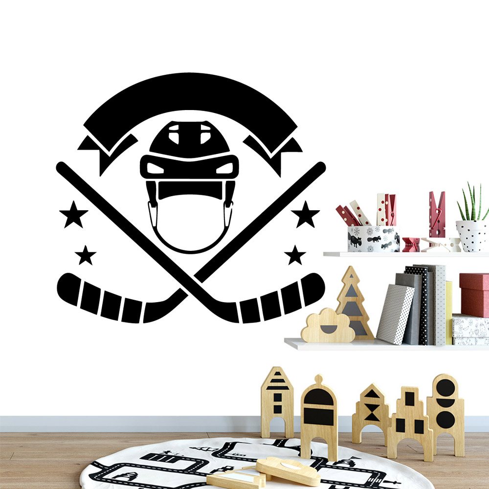 Modern Hockey Home Decorations Pvc Decal Removable Wall Sticker Art Decoration DIY Decor Kids Room Creative Stickers