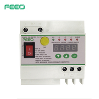 FEEO 1 63A leakage switch automatic reclosing leakage protector digital display 145 280V lightning protection overvoltage