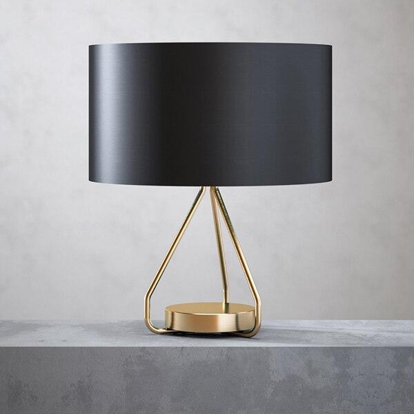 Lampes de table de style chinois moderne lampe de bureau simple salon salle à manger chevet personnalité mode lampes de bureau noires ZA8279