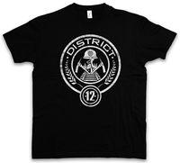 La manera del verano o-cuello Distrito 12 camiseta-homenaje mocking hambre de distritos juegos panem jay