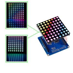 Image 2 - SunFounder 8x8 מלא צבע RGB LED מטריקס נהג חומת + RGB מטריקס מסך עבור Arduino