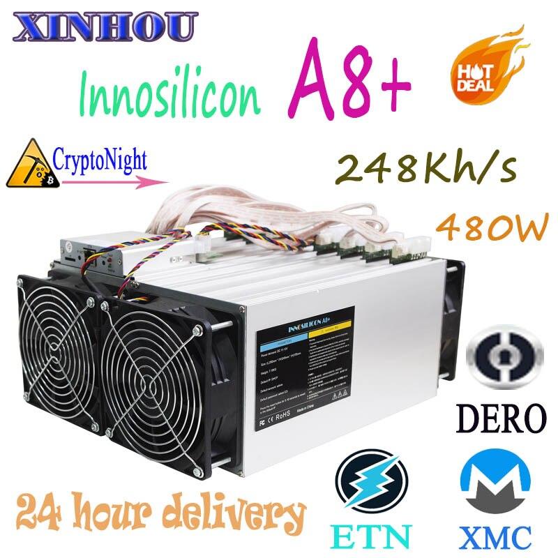 ASIC mineur Innosilicon A8 + 248 k CryptoNight XMC DERO minière Mieux que baïkal antminer S9 Z9 T15 S15 DR3 l3 Quoi DE PLUS M3X M10
