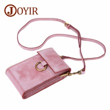 купить JOYIR Genuine Leather Crossbody Bags For Women Phone Bag Vintage Women Shoulder Travel Phone Bags Mini Messenger Bag Female 2018 по цене 2485.41 рублей
