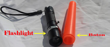 2015 Traffic command 2000 Lumens police flashlight zoomable led lamp tactical led lanterna for 18650 SOS