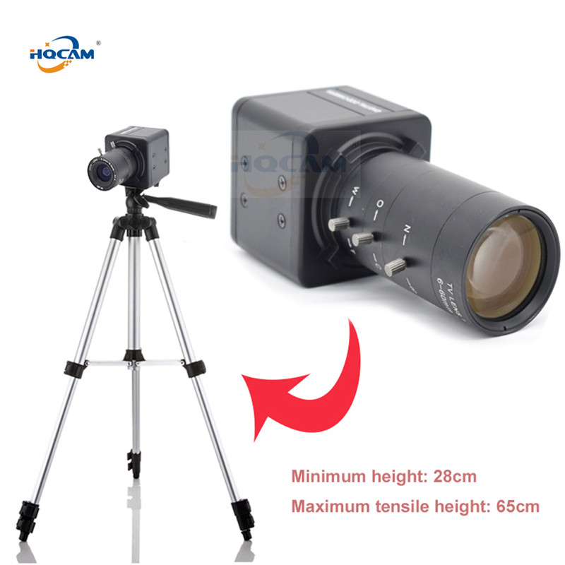 HQCAM 3MP Haute dynamique H.264 Aptina AR0331 6-60mm Objectif À Focale Variable caméra Avec Numérique pour Rétro-éclairage Capture mini USB BOÎTE caméra