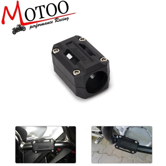 1 peças de Motor Bloco de Proteção Crash bar Guarda Bumper Decorativa Desmantelamento 22mm-28mm Para BMW R1200GS LC adv F700GS F800GS 13-17