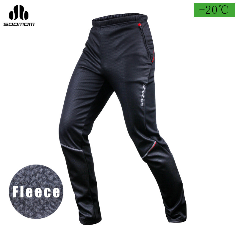SOOMOM Bike Pants Warmth Winter Riding Trousers Mens Cold Weather Cycling Pants Thermal Casual Fit Stretchy