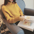 2017 Autumn Winter Korean Women Sweater Turtleneck Batwing Sleeve Students Sweater Thick Loose Knitted Pullovers