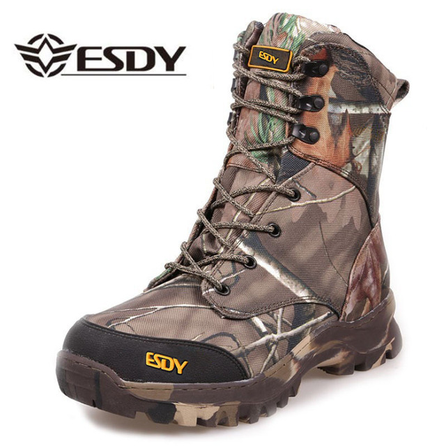 b274b1ce342 US $70.43 30% OFF Warm Waterproof camouflage Leather Desert Combat boots  Safety Shoes Snow Tactical Boots 2017 Winter Men Military Army Boots -in ...